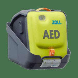 Vægbeslag med plads til AED 3 hjertestarter i taske 1