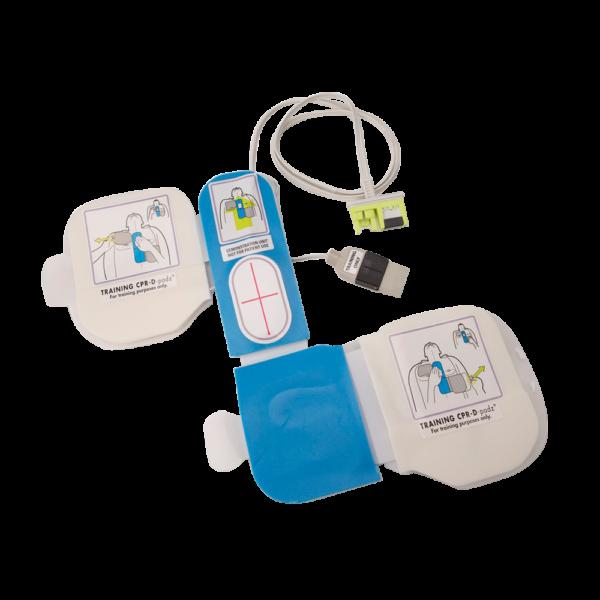 8900-5007 CPR-D Padz træningsstødpads med simulatorstik. Gel pads