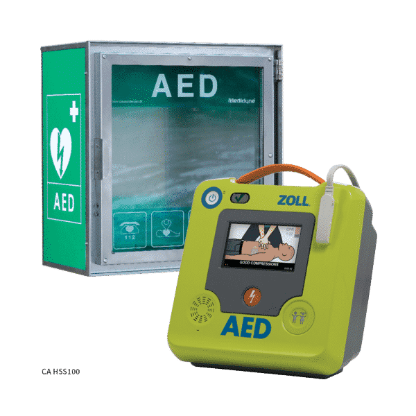 ZOLL AED 3 hjertestarter + CA HSS100 hjertestarterskab