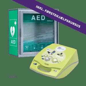 ZOLL AED Plus hjertestarterskab + CA HSS100 hjertestarterskab + 4 timers førstehjælpskursus